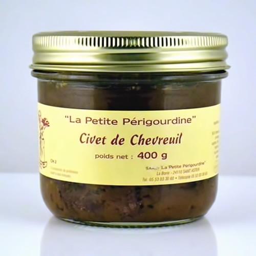Civet de chevreuil bocal 400g cuisiné au vin de Bergerac