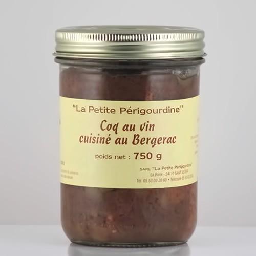 Coq au vin cuisiné au vin de Bergerac (Bocal 750g)
