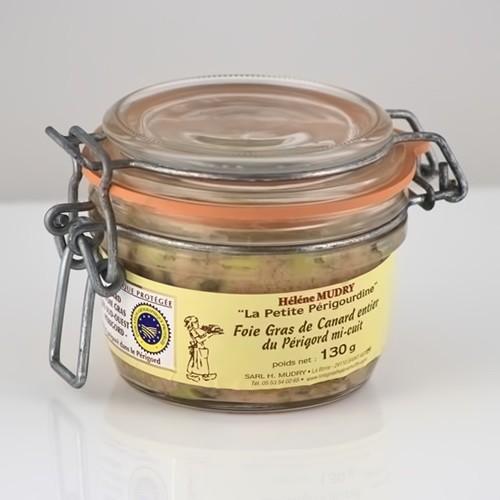 Foie Gras de Canard Entier Mi Cuit (Bocal 130g)
