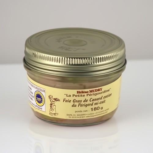Foie Gras de Canard Entier Mi Cuit (Bocal 180g)