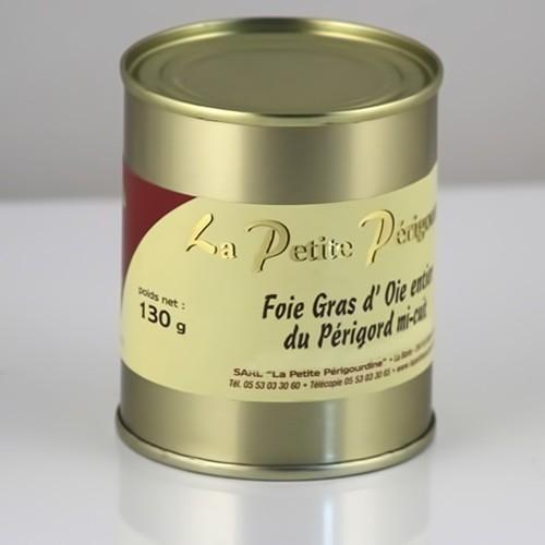 Foie Gras d'Oie Entier Mi Cuit (Boite 130g)