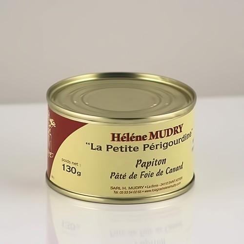 """Le Papiton """"Pâté de foie de canard"""" (Boite 130g)"""