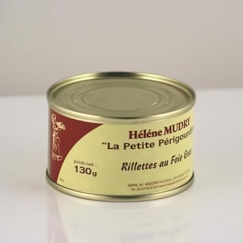 Rillettes au foie gras de Canard boite 130g