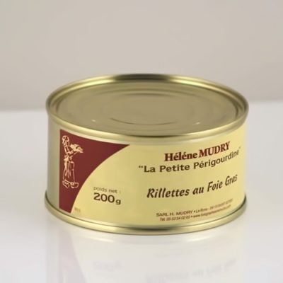 Rillettes au foie gras boite 200g