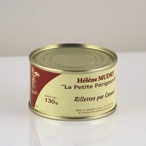 Rillettes Pur Canard (Boite 130g) - Foie Gras Hélène Mudry