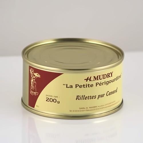 Rillettes Pur Canard (Boite 200g) - Foie Gras Hélène Mudry