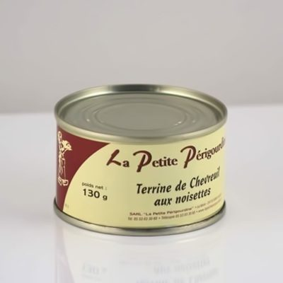 Terrine de chevreuil aux noisettes boite 130gg