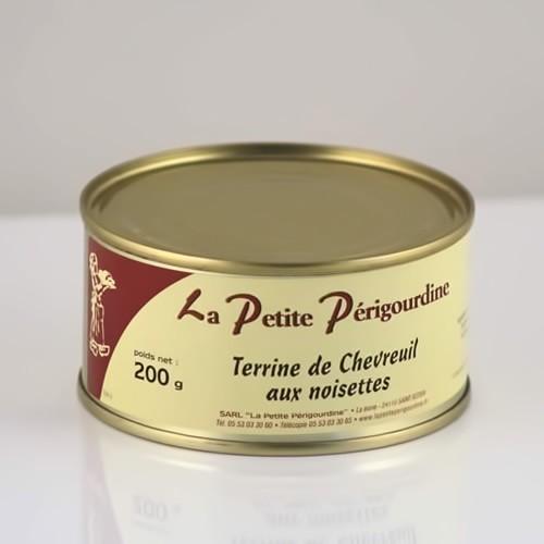Terrine de chevreuil aux noisettes boite 200g